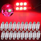20Pcs Ultra Red 36mm Festoon LED Interior Map Dome Cargo Light bulbs 6418 C5W
