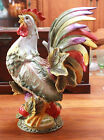FITZ AND FLOYD VISTA BELLA ROOSTER CENTERPIECE VERY RARE 17