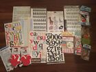 Scrapbooking Lot Disney Stamps Stickers Letters Variety Embellishments Rubs