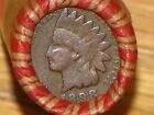 UNSEARCHED WHEAT PENNY ROLL WITH 1898 & 1907 INDIANS ON ENDS-NICE COIN LOT