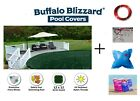 Buffalo Blizzard Swimming Pool Winter Cover w Pillow  Closing Kit Choose Size