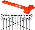 Tent Peg Hammer Mallet With Peg Remover Extractor 10in Rust Resistant Peg Driver