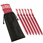 Tent Stakes Outdoor Aluminum Ultralight Rhombic Tent Pegs High Strength Ground a