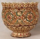Old Antique Zsolnay Pecs Reticulated Cache Pot Hungary