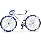 Fixed Gear Single Speed Road Bike Racing Bicycl Aluminum Frame w/Flip Flop Hub