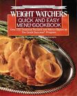 Quick and Easy Menu Cookbook by Inc Staff Weight Watchers International 1988