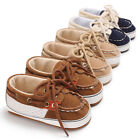 Newborn Baby Boy Pre Walker Soft Sole Crib Shoes Toddler First Trainers 0 18 M
