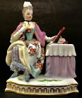 MEISSEN FINE SEATED FIGURINE AT DRESSING TABLE