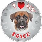 iLeesh I Love My Boxer Reflective Decal Pet Memorial Products Dog, New
