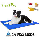 Free Paws Pet Cooling Pad Gel Mat Cooler For Dog Crate Bed Kennel S M L Blue