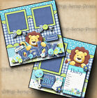 BABY BOY 2 premade scrapbook pages paper piecing layout 4 album DIGISCRAP A0047
