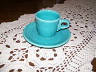 Retired Fiesta Turquoise AD Demitasse Cup and Saucer