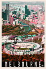 Iconic Melbourne City MCG Scenic Travel Print Limited Ed of 250 Signed Artwork