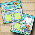 WELCOME BABY BOY 2 premade scrapbook pages paper piecing layout DIGISCRAP A0050