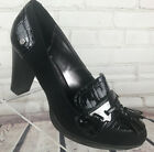 Dana Buchman Black Suede Patent Leather Dress Pump with Tassel Size 6 Work 3