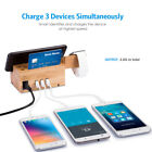 2 in 1 Wooden Charging Stand dock station charger for iWatch iPhon 3 USB Ports