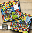 STAR STUDENT school 2 premade scrapbook pages paper BOY GIRL BY DIGISCRAP