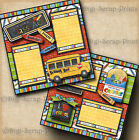 CLASS ACT school 2 premade scrapbooking pages paper BOY GIRL layout DIGISCRAP