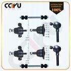 8pcs Suspension  Steering Parts Ball Joint Tie Rod Ends Stabilizer Bar Link Kit