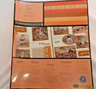 Creative Memories Printed Photo Mounting Paper Spice 12 Sheets Acid Free