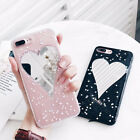 Glitter Bling Powder Love Heart Mirror Soft TPU Phone Case For iPhone 6 6S 7Plus
