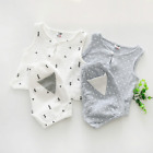 Summer Baby Boy Girl Clothes Unisex  T-shitr Vest+Pant 95% Cotton for 1-4 Years