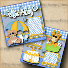 ITS A BOY baby 2 premade scrapbook pages shower paper piecing DIGISCRAP A0064