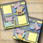 BABY BOY 2 premade scrapbook pages layout scrapbooking paper DIGISCRAP A0030