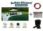 Buffalo Blizzard 18 Round Above Ground Swimming Pool Winter Cover w Clips