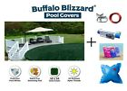 Buffalo Blizzard SUPREME Swimming Pool Winter Cover w Pillow Seal  Closing Kit