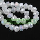 Rondelle Faceted Jade Crystal Glass Loose Spacer Beads 346810mm Jewelry Diy