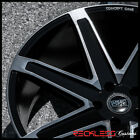 22 CONCEPT ONE CSM03 WHEELS DDT BLACK CONCAVE RIMS Fits F10 BMW 528i 535i 550i
