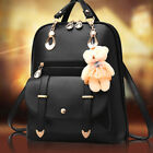 Cute Bear Girls School Shoulder Bags Faux Leather Bookbag Teenage Women Backpack