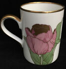 New Fitz & Floyd Tulipe D'or Coffee Tea Tulip Mug, White Blue Pink (RF280)