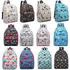 Young Vintage Backpack Animal Pattern Printed Rucksack School Shoulder Bag