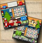 ROAD TRIP vacation travel 2 premade scrapbooking pages paper layout digiscrap