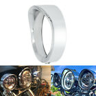 7inch Headlight Bezel Trim Ring Protect Guard Cover Cap for Harley Chrome