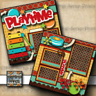 PLAYTIME boy or girl 2 premade scrapbook pages paper piecing by digiscrap