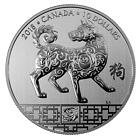 YEAR OF THE DOG 2018 10 1 2 oz Fine Silver Coin Royal Canadian Mint