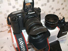 CANON EOS 20D DIGITAL SLR CAMERA with THREE LENS
