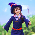 Anime for Little Witch Academia Akko Kagari 65cm Red Brown Wavy Cosplay Wig+Cap