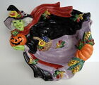 1995 FITZ AND FLOYD HALLOWEEN HARVEST BOWL/CANDY DISH