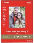 Canon Photo Paper Plus Glossy II 85x11 20 Sheets New Free Ship