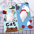 For Philips Nokia Squishy Cover 3D Silicone Case Finger Pinch Cat Phone Shell