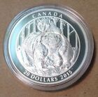 2015 Canada 20 1 oz Fine Silver Coin  Grizzly Bear Togetherness
