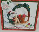 Christmas Santa Claus basket palm trees in sunshine from Lifestyle Studios  IOB