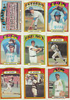 1972 Topps Baseball Lot 100 Different Tons of Stars High Book Value