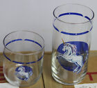 Rare NOS 16 Tienshan Fantasy Blue Unicorn Tumblers/Juice Drinking Glasses Set
