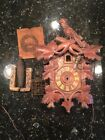 Vintage Cuckoo Clock For Parts Only 12 1/2