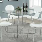 Monarch Dining Table in Silver Chrome